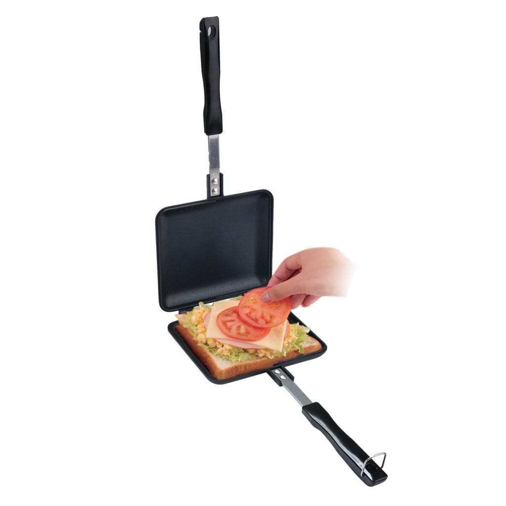 Non-Stick Double Sided Stove Top Sandwich Press