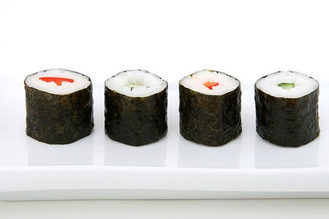 Sushi on a tray